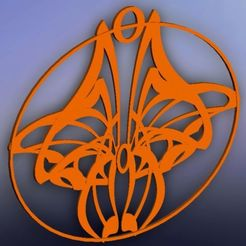 colgante alas de mariposa.jpg Download STL file art nouveau butterfly pendant • 3D printable template, fernandobech