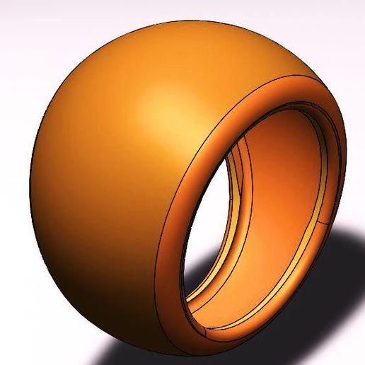 Download STL file spherical ring, fernandobech