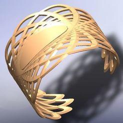 brazalete calado óvalos 2.jpg Download STL file oval-shaped bracelet • Template to 3D print, fernandobech