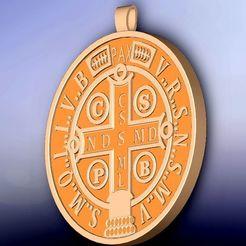 medalla cruz de san benito.jpg Download STL file St. Benedict's cross medal • 3D printing model, fernandobech