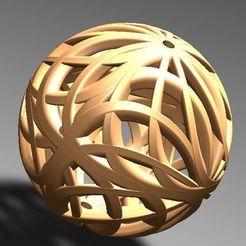 esfera calada.jpg Download STL file openworked spherical pendant • 3D printer template, fernandobech