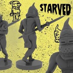 Download free 3D printer templates Starved Militia (Fantasy Miniature), ToonGoons