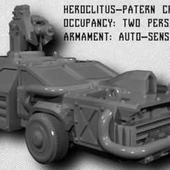 Download free 3D printer templates Wargaming Model - Heroclitus-Pattern Cruiser , ToonGoons