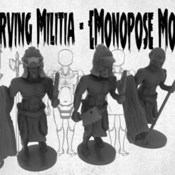 Download free 3D model Starving Militia - Monopose Models, ToonGoons