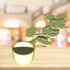 Mickey cuchara medidora.jpg Download STL file Mickey Measure Spoon • 3D printable model, zafirah99