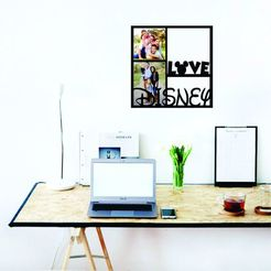 Descargar STL Love Disney Photo Frame - Marco para fotos Disney , zafirah99