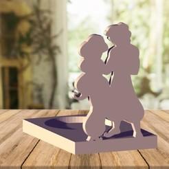 portavela aladdin.jpg Télécharger fichier STL Porte-bougie Aladin • Plan à imprimer en 3D, zafirah99