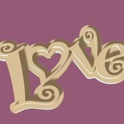 love renderizado.jpg Download STL file Love Keychain • 3D print template, zafirah99