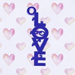 love hand real.jpg Download STL file Love word keychain • 3D printable object, zafirah99