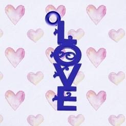 """Télécharger STL Porte-clés """"mot d'amour, zafirah99"""