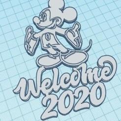 Descargar modelos 3D para imprimir Welcome 2020 Mickey, zafirah99
