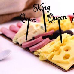 Descargar modelo 3D Pinchos Queen and King - Toothpick, zafirah99