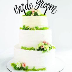 torta bride grrom.jpg Download STL file Wedding cake topper set • Model to 3D print, zafirah99