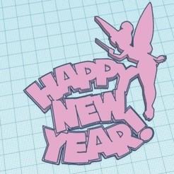 happy new year campanita.jpg Download STL file Happy new year Tinkerbell • Design to 3D print, zafirah99