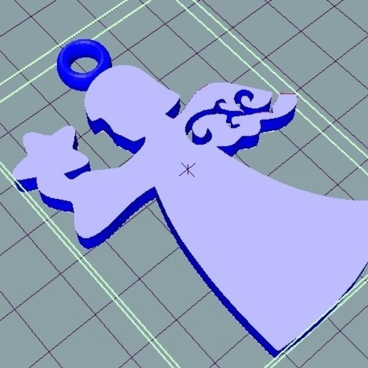 angel con estrella stl.jpg Download free STL file Angel Christmas ornament • 3D printer model, zafirah99