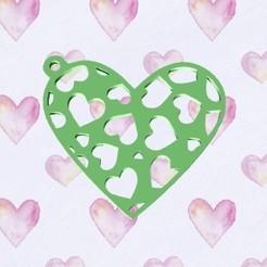 Descargar archivos STL gratis Hearts Pendant valentines, zafirah99