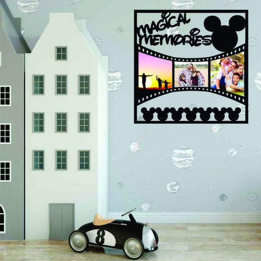 Descargar modelos 3D para imprimir Disney Memories photo frame, zafirah99