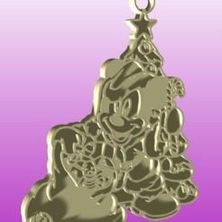 mickey arbol navideño render.jpg Download STL file Mickey Christmas Tree • 3D printer object, zafirah99