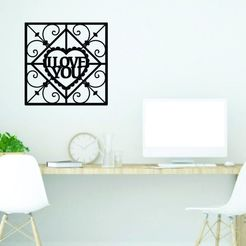 Descargar archivos STL I love You wall decoration , zafirah99