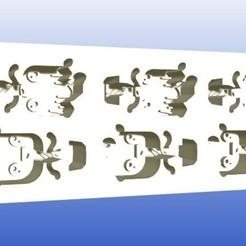 baby groot ice tray.jpg Télécharger fichier STL Plateau à glace pour bébé Groot / moule à chocolat ou à argile • Design pour impression 3D, zafirah99