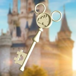 llave disney castillo 2.jpg Download STL file Castle Key • 3D printable template, zafirah99