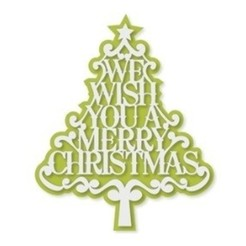arbol we wish you.jpg Download STL file Christmas Tree Ornament • 3D printing model, zafirah99