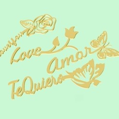 Télécharger STL Signet d'amour Saint-Valentin, zafirah99