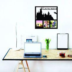 living hogwarts.jpg Download STL file Hogwarts photo frame • 3D printable design, zafirah99