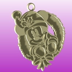 mickey corona render.jpg Download STL file Mickey Santa • 3D print design, zafirah99