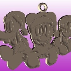 amigos mickey stl.jpg Download STL file Mickey and Friends Christmas • 3D print template, zafirah99