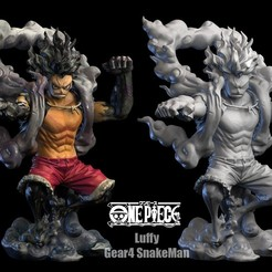 Download STL Luffy Gear4 SnakeMan 3DScan, blueday66