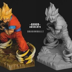 Télécharger fichier impression 3D GOKU SS ABSOLUTE 3DScan, blueday66