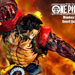 Descargar STL Escaneo 3D LUFFY GEAR4 KONGGUN, blueday66