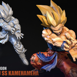 001.jpg Download STL file Goku SS Kamehameha 3D Scan • 3D printing model, blueday66