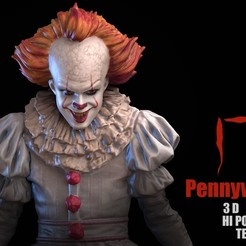 IT_pennywise_3d_model.jpg Download STL file IT Pennywise 3D Scan • 3D printable model, blueday66
