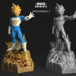 Download STL VEGETA SS ABSOLUTE 3DScan, blueday66