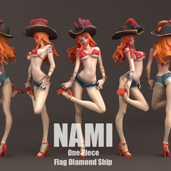 Download 3D printing designs Nami flag diamond ship 3DScan, blueday66