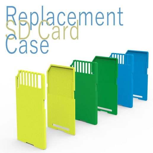 Download free STL file Replacement SD Card Case • 3D printer model, Ruvimkub