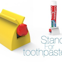 Download free STL file Stand for toothpaste • 3D printer object, Ruvimkub