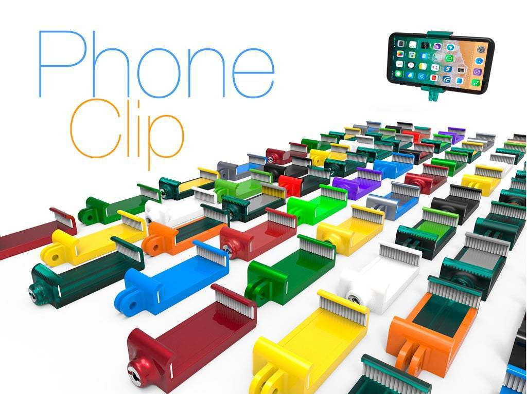 Phone_Clip1.jpg Download free STL file Phone Clip. • 3D printer object, Ruvimkub