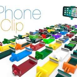 Phone_Clip1.jpg Télécharger fichier STL gratuit Clip téléphonique. • Design à imprimer en 3D, Ruvimkub