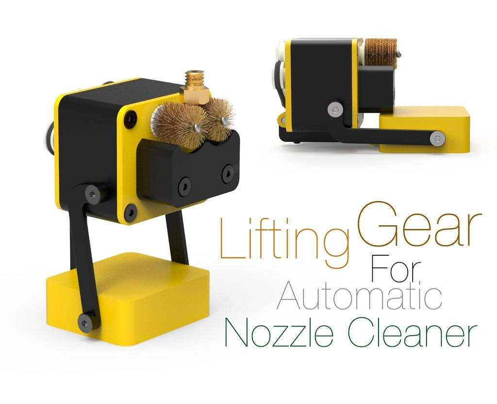 1AutomaticNozzleСleaner.jpg Download free STL file Lifting Gear For Automatic Nozzle Cleaner • 3D print template, Ruvimkub
