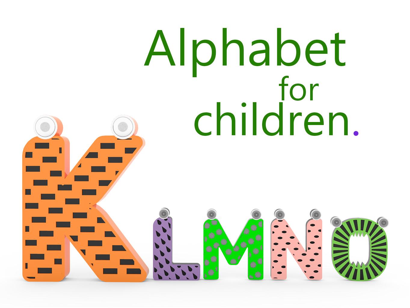 qw.jpg Download free STL file Alphabet for children. K L M N O • Model to 3D print, Ruvimkub