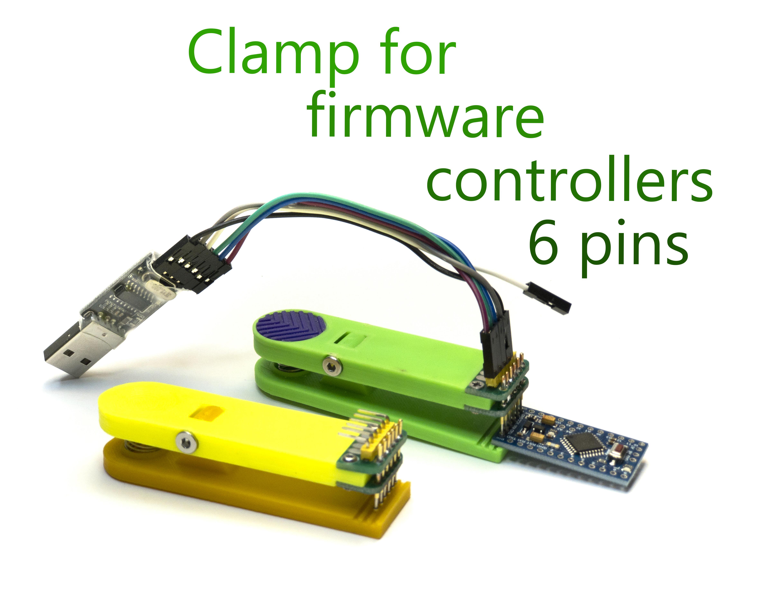 1245.jpg Télécharger fichier STL gratuit Pince pour contrôleurs firmware 6 broches • Design imprimable en 3D, Ruvimkub