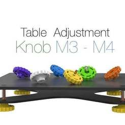 Table_Adjustment_Knob_M3_-_M4.jpg Download free STL file Table Adjustment Knob M3 - M4 • Object to 3D print, Ruvimkub