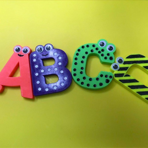 121345.jpg Download free STL file Alphabet for children. A B C D E • Template to 3D print, Ruvimkub