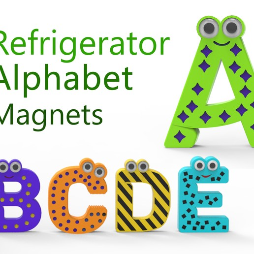 234.jpg Download free STL file Alphabet for children. A B C D E • Template to 3D print, Ruvimkub