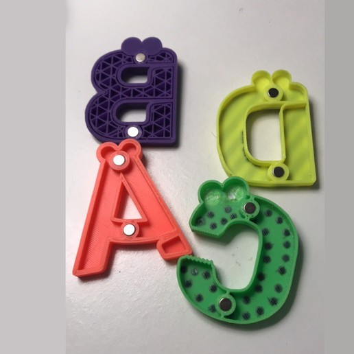124.jpg Download free STL file Alphabet for children. A B C D E • Template to 3D print, Ruvimkub