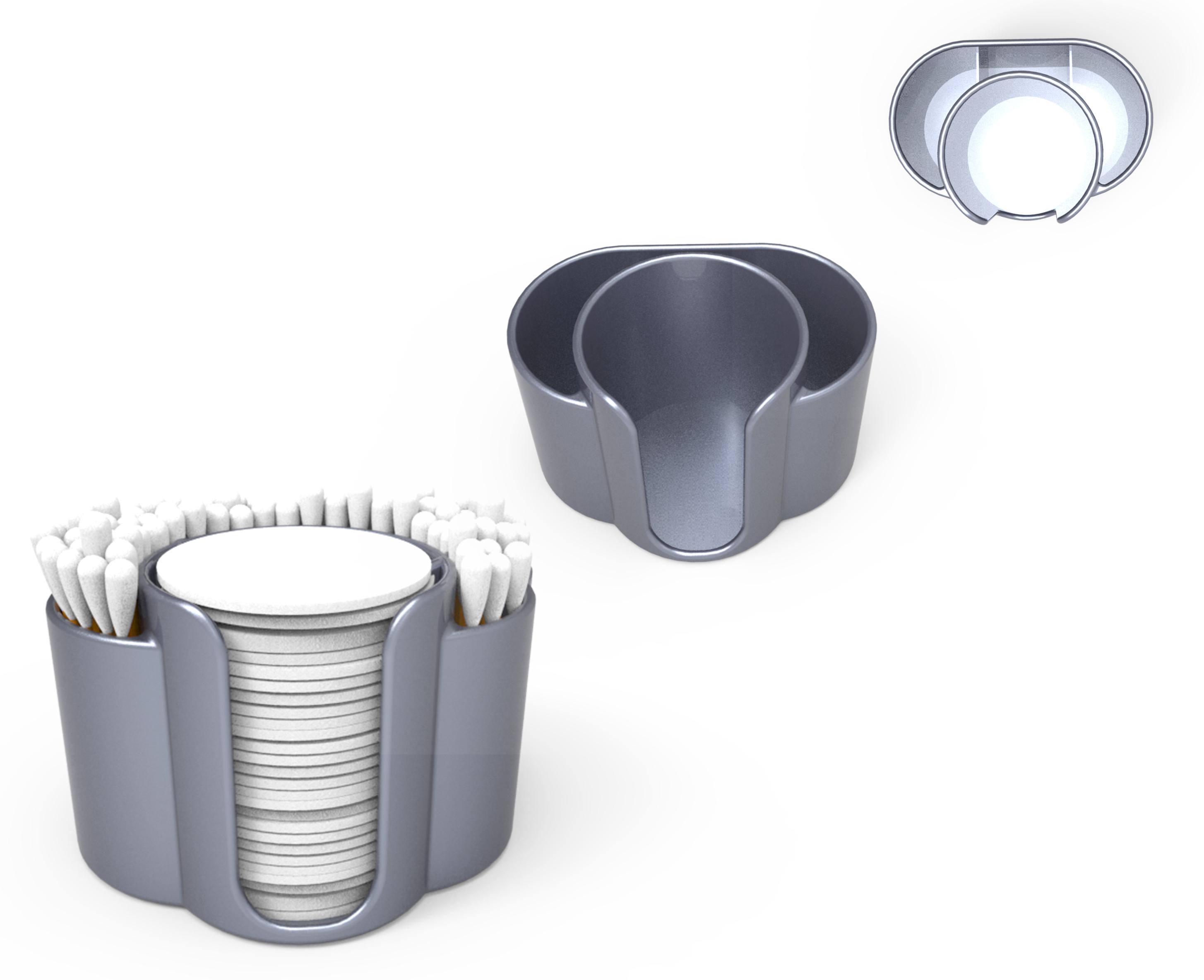 34.jpg Télécharger fichier STL gratuit Support pour tiges et disques de coton • Modèle imprimable en 3D, Ruvimkub
