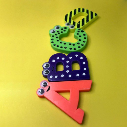 1234.jpg Download free STL file Alphabet for children. K L M N O • Model to 3D print, Ruvimkub